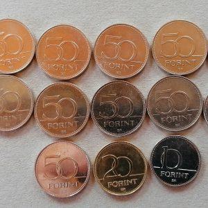 emlék 50 forintosok , tisztelet a hősöknek 10 és 20