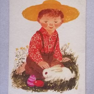 Húsvéti motívum Demjén Zsuzsa képeslap
