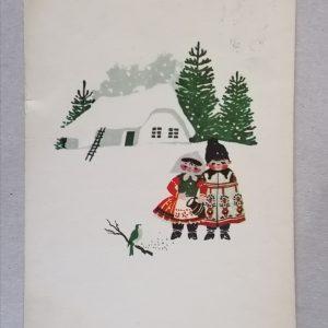 Karácsonyi motívum Kecskeméty Károly képeslap 3