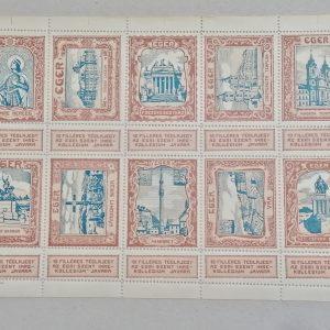 1910 egri szent istván kollégium 10 filléres téglajegy